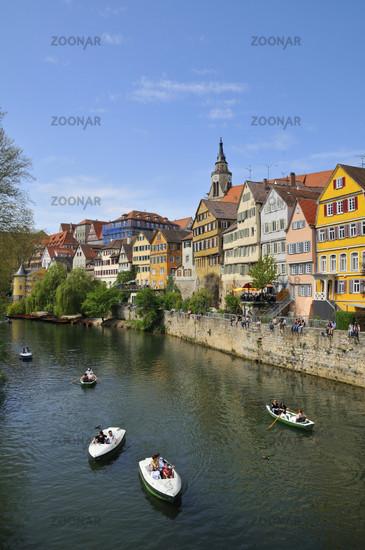 Boote auf dem Neckar in Tübingen - Tuebingen