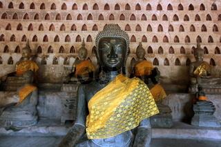 Der Wat Si Saket in Vientiane der Hauptstadt von Laos in Suedostasien.