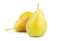 Two ripe yellow pears
