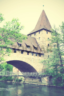 Tower and bridge in Nuremberg