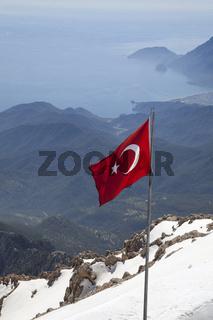 Blick auf die türkische Mittelmeerküste
