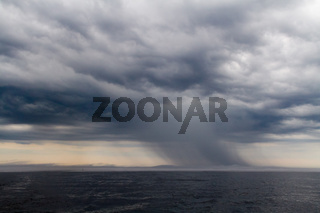 Unwetter auf Ladoga-See