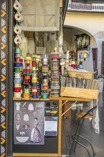 Dress makers Shop, Plaza Redonda Market, Valencia, Spain