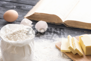 Flour and other baking ingredients