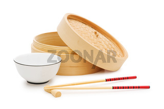 Chinese dining set isolated on the white