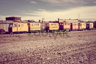 Train station in Uyuni, Bolivia