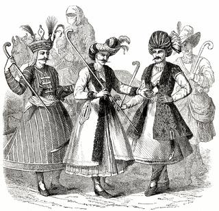 Persian costumes,  17th century