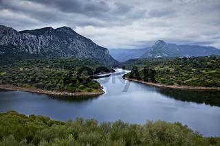 Lago Cedrino, Dorgali, Sardinien, Italy