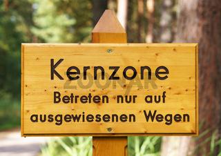 Naturschutz Gebiet Kernzone