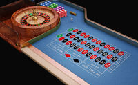 Roulette table close up view.