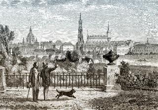 Historical cityscape of Dresden