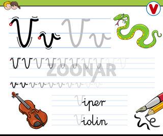 how to write letter v