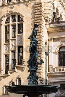 Hygieia fountain near Hamburg Rathaus