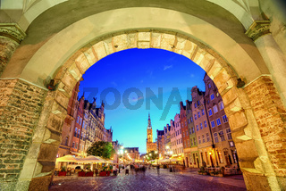 Main Town Hall in the old city of Gdansk, Poland