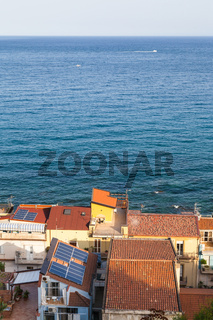 above view of residential houses in Giardini Naxos