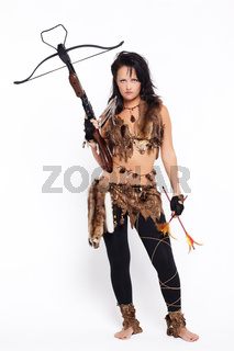 woman with arbalest