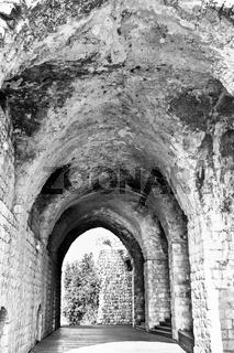 Remnants of Crusader castle in Israel