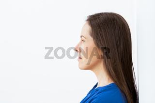 face of happy smiling middle aged woman