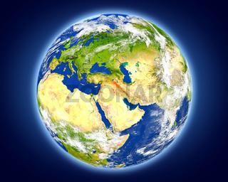 Iraq on planet Earth