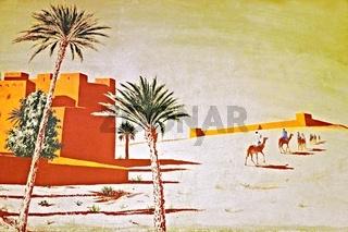 Wüstenszenerie Wandmalerei