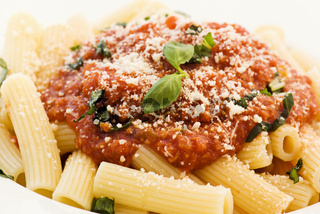 Rigatoni with sauce