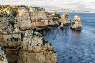 Cliffs and rock formations at Ponta da Piedade (Lagos, Portugal)