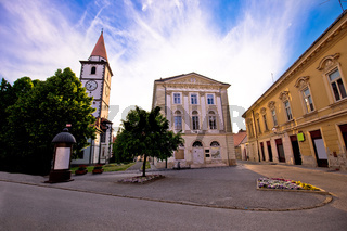 Town of Varazdin church and square