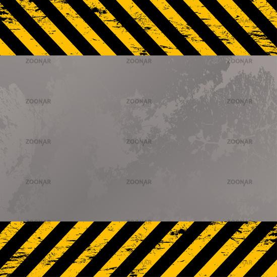 costruction warning stripes