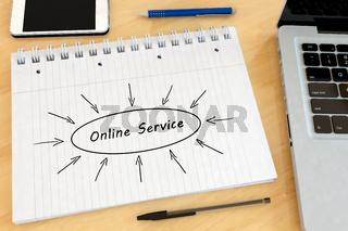 Online Service text concept