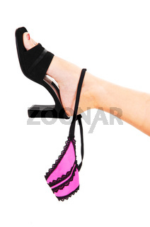 Womans foot with thong.