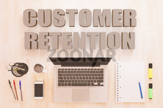 Customer Retention text concept