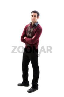 Handsome guy standing