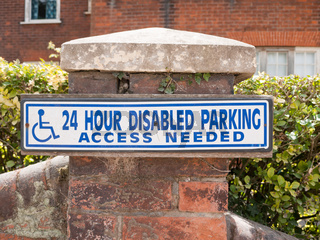 disabled parking access only sign outside