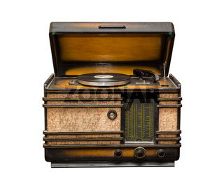old radio, front view