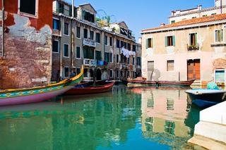 Calm water of a venetian canal