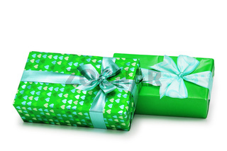 Two gifts boxes isolated on the white