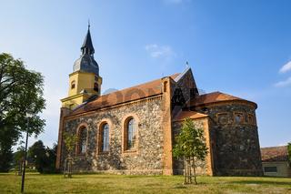 Dorfkirche Gross Leuthen, Gemeinde Märkische Heide, Brandenburg, Deutschland