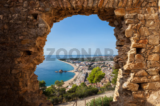 Blanes Town From St John Castle