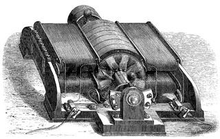 Electrical generator, dynamo, built by the Siemens  Halske, Germany, 19th century