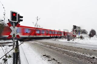 Personenzug im Winter