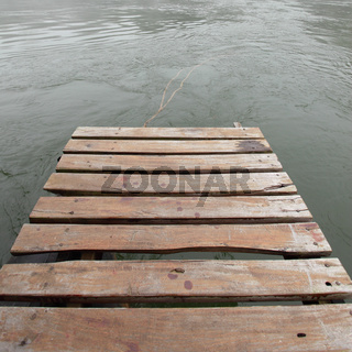 Old jetty at the Kwai river