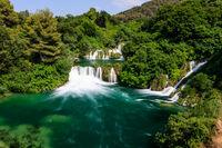 National Park Krka and Cascade of Waterfalls on River Krka, Croatia