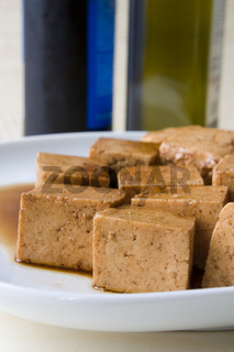 Marinierter Tofu - Marinated Tofu.