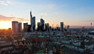 Blick auf Frankfurt und die Skyline von Frankfurt