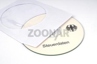 Symbolbild CD mit Steuerdaten