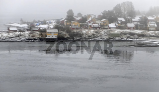 Oslofjord im Nebel
