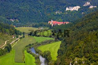 Donautal , Blick nach Beuron