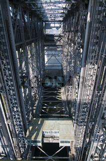 Innenansicht vom Schiffshebewerk Niederfinow, Brandenburg, Deutschland