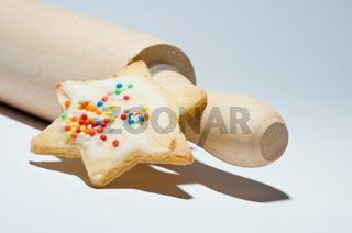 Rolling pin with cookie - Teigrolle mit Plätzchen