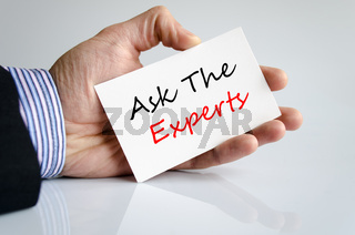 Ask the experts text concept